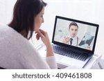 over the shoulder shot of a... | Shutterstock . vector #409461808