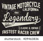 vintage motorcycle  legendary... | Shutterstock .eps vector #409463836