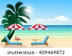 seascape vector illustration.... | Shutterstock .eps vector #409469872