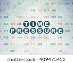 time concept  painted blue text ... | Shutterstock . vector #409475452