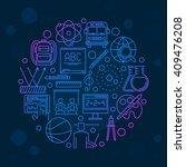 back to school design template  ... | Shutterstock .eps vector #409476208