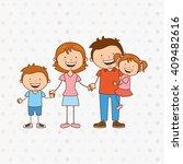 happy family design  | Shutterstock .eps vector #409482616