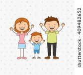 happy family design  | Shutterstock .eps vector #409482652