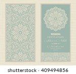 wedding invitation card arabic  ... | Shutterstock .eps vector #409494856