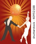 latino couple dancing in the... | Shutterstock .eps vector #40952188