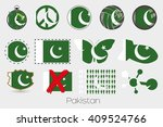 many different styles of flag... | Shutterstock .eps vector #409524766