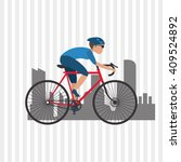 flat illustration of bike...   Shutterstock .eps vector #409524892