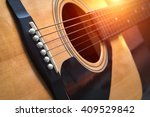Detail Of Classic Guitar With...