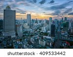 view from sathorn unique tower... | Shutterstock . vector #409533442