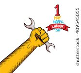 1 may   happy labour day.... | Shutterstock .eps vector #409545055