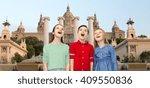 childhood  travel  tourism ... | Shutterstock . vector #409550836