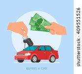 car sale vector illustration.... | Shutterstock .eps vector #409551526