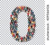 people number alphabet 3d | Shutterstock .eps vector #409566436
