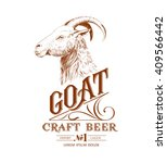 Vintage Goat Logo With Hand...