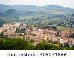view to the fields from san... | Shutterstock . vector #409571866