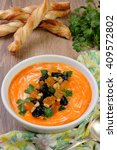 Sweet Pumpkin Puree Soup With...