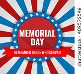 memorial day background. vector ... | Shutterstock .eps vector #409573546