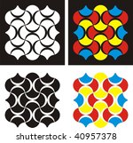 four abstract designs | Shutterstock .eps vector #40957378