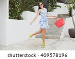 young stylish beautiful woman... | Shutterstock . vector #409578196
