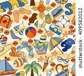 summer seamless pattern can be... | Shutterstock .eps vector #409582012