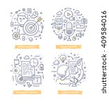 doodle illustrations of... | Shutterstock .eps vector #409584016