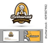 restaurant vector logo. cafe ... | Shutterstock .eps vector #409587982