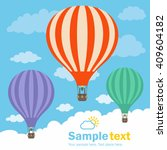 hot air balloon and clouds | Shutterstock .eps vector #409604182