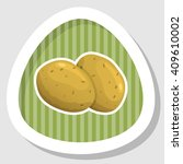 potatoes colorful icon | Shutterstock .eps vector #409610002