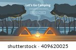 vector flat web banner on the... | Shutterstock .eps vector #409620025