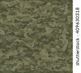 seamless camouflage military... | Shutterstock .eps vector #409630318