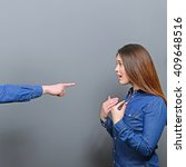 Small photo of He accusing her - Couple fighting series