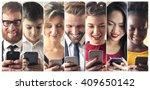 smartphone users | Shutterstock . vector #409650142