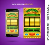jackpot game ui design. vector...