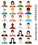 set of avatar color icons  ... | Shutterstock .eps vector #409653322