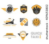 taxi labels set | Shutterstock .eps vector #409653802