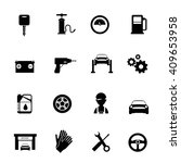 auto service flat icons set in... | Shutterstock .eps vector #409653958