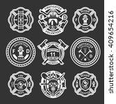 firefighter white label or... | Shutterstock .eps vector #409654216