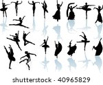 illustration with ballet dancer ... | Shutterstock .eps vector #40965829