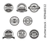 product quality badge label... | Shutterstock .eps vector #409668112