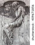 Old Statue Depicting A Weeping...