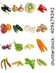 fresh summer vegetables on a... | Shutterstock . vector #409679392
