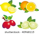 fruits vector | Shutterstock .eps vector #40968115