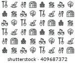 seamless pattern of market... | Shutterstock .eps vector #409687372