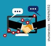 online business deal. business... | Shutterstock .eps vector #409696552