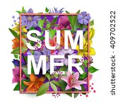 Vector Summer Flowers...