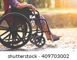 old people on wheel chair   Shutterstock . vector #409703002