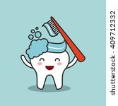dental hygiene design  | Shutterstock .eps vector #409712332