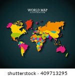 world map design  | Shutterstock .eps vector #409713295