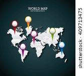 world map design  | Shutterstock .eps vector #409713475