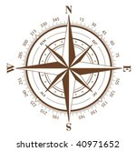 brown compass rose isolated on... | Shutterstock .eps vector #40971652